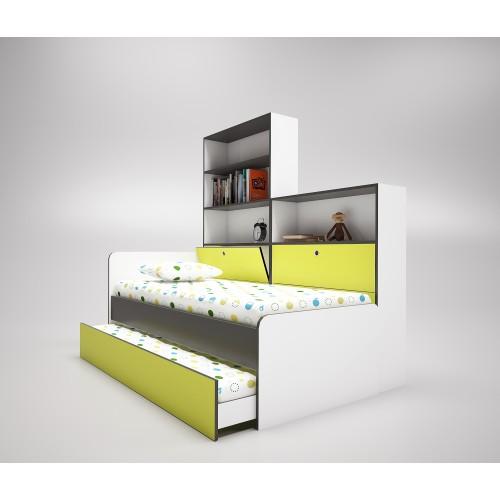 Легло сандвич  ДАНИ с етажерки и ракли + подарък матраци