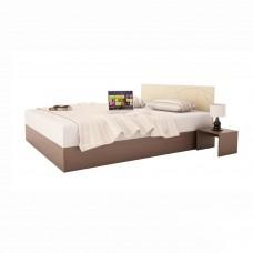 Легло за матрак 160/200 КОМПАКТ 2 венге и пясъчен бук и две нощни шкафчета